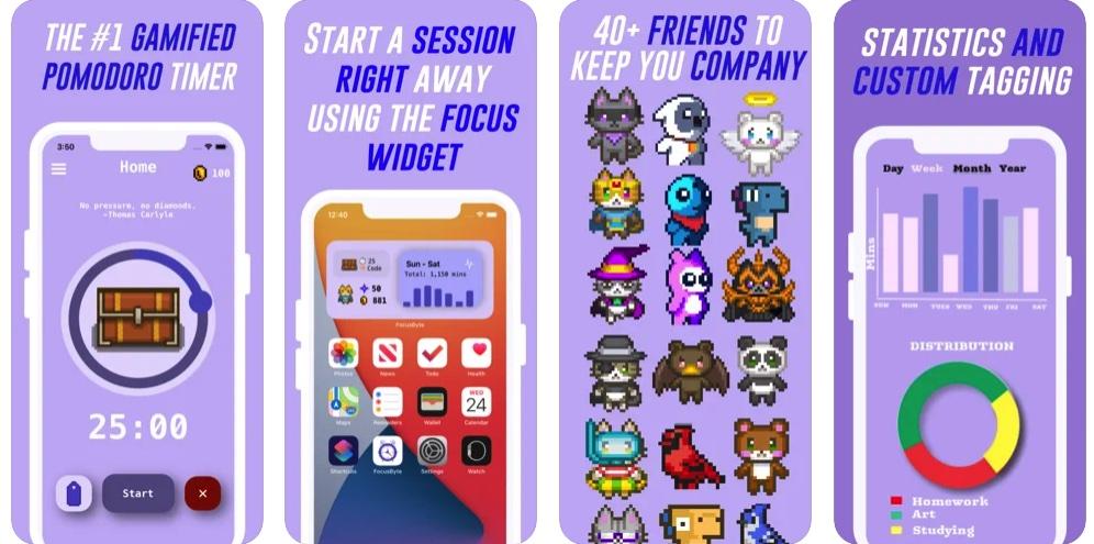 [iPhone/iPad限免] FocusByte :极具特色的番茄钟软件