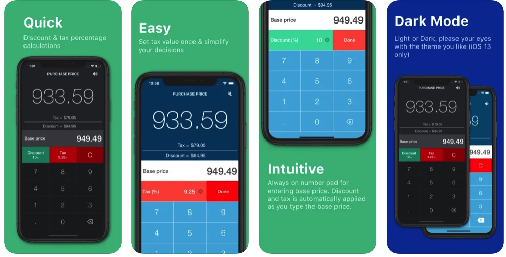 [iPhone限免] DiscountApp :购物好帮手折扣税率计算器
